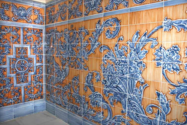 Cer mica taller de cer mica azulejos retablos murales for Zocalos de ceramica